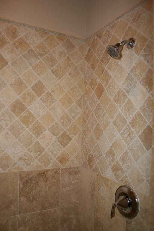 master shower tile work in similar home