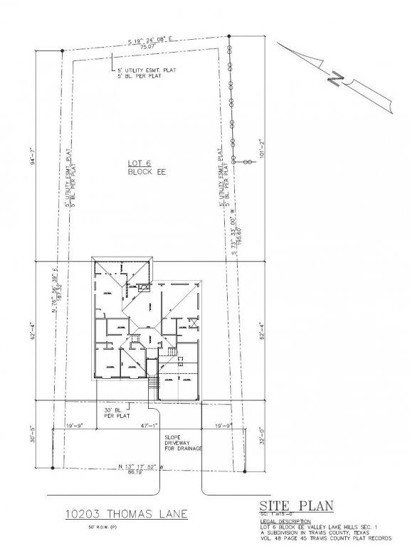 10203 Thomas Lane - Prelim House Location