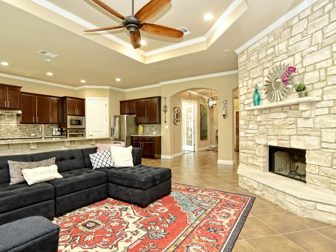 Living Fireplace - 1804 Valle Verde, Cedar Park, Leander TX 78641