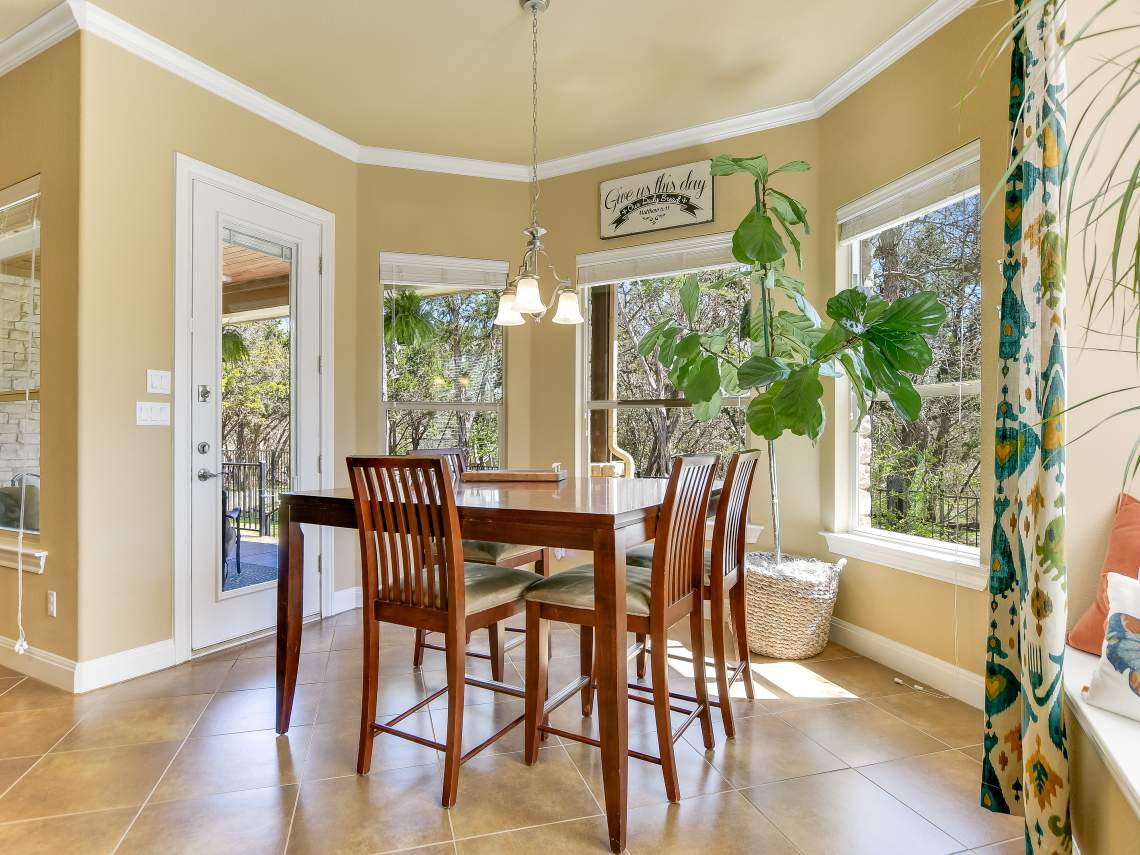 Breakfast Room - 1804 Valle Verde, Cedar Park, Leander TX 78641