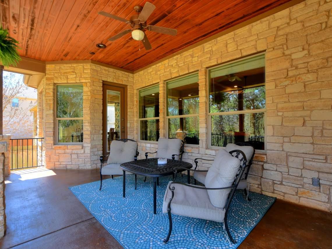 Back patio -1804 Valle Verde, Cedar Park, Leander TX 78641