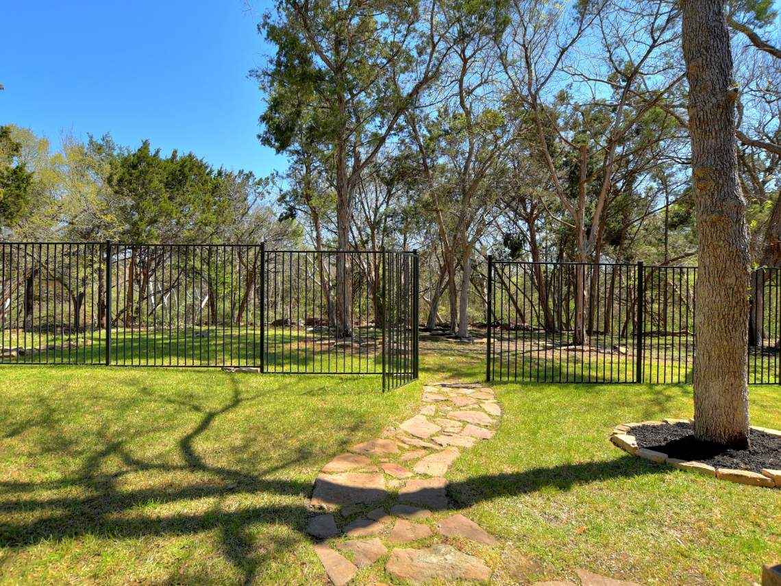 Back-Yard - 1804 Valle Verde, Cedar Park, Leander TX 78641