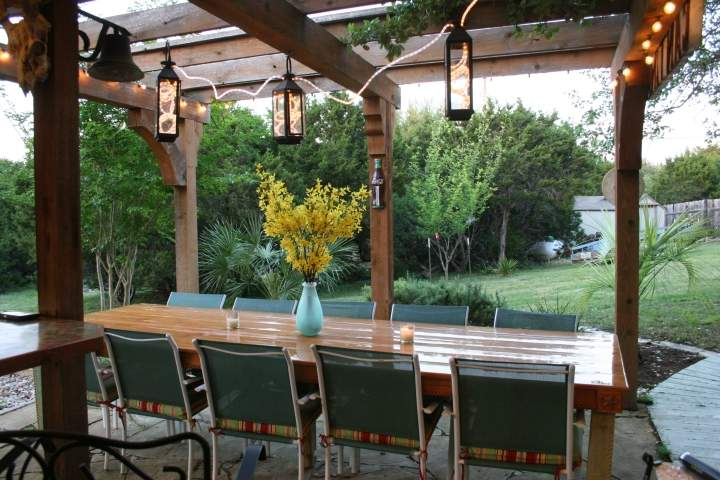 Custom Outdoor Dining Table Included