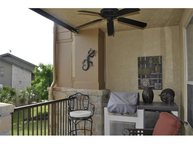 balcony with electric grill