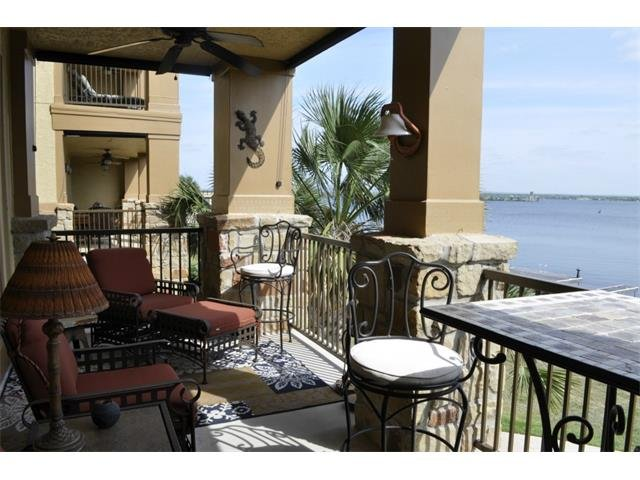 balcony with view of lake