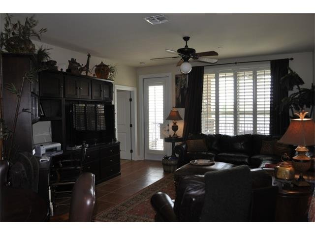 family room with custom built-ins